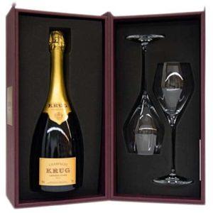 Krug Grande Cuvée Champagne Conf. Regalo 2 Calici